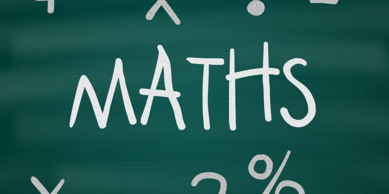 """""""Maths"""" Written on Chalkboard"""