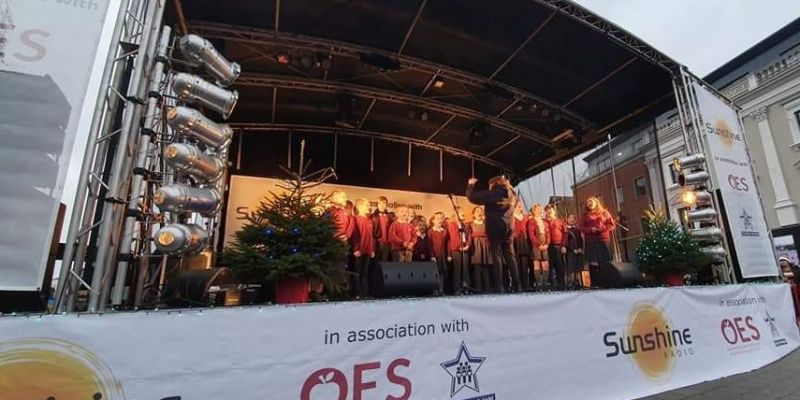 Hereford Christmas Light Switch on in 2019 - Congratulations to one of our winners Gorsley Goffs Primary!