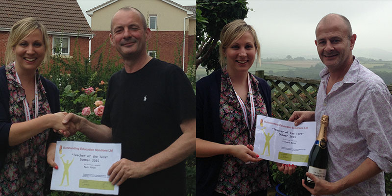 Teacher of the term award for Herefordshire teacher presented by Charlotte